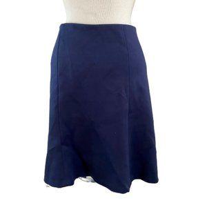 ANN TAYLOR LOFT Navy Blue  Elastic Waist Skirt XSP